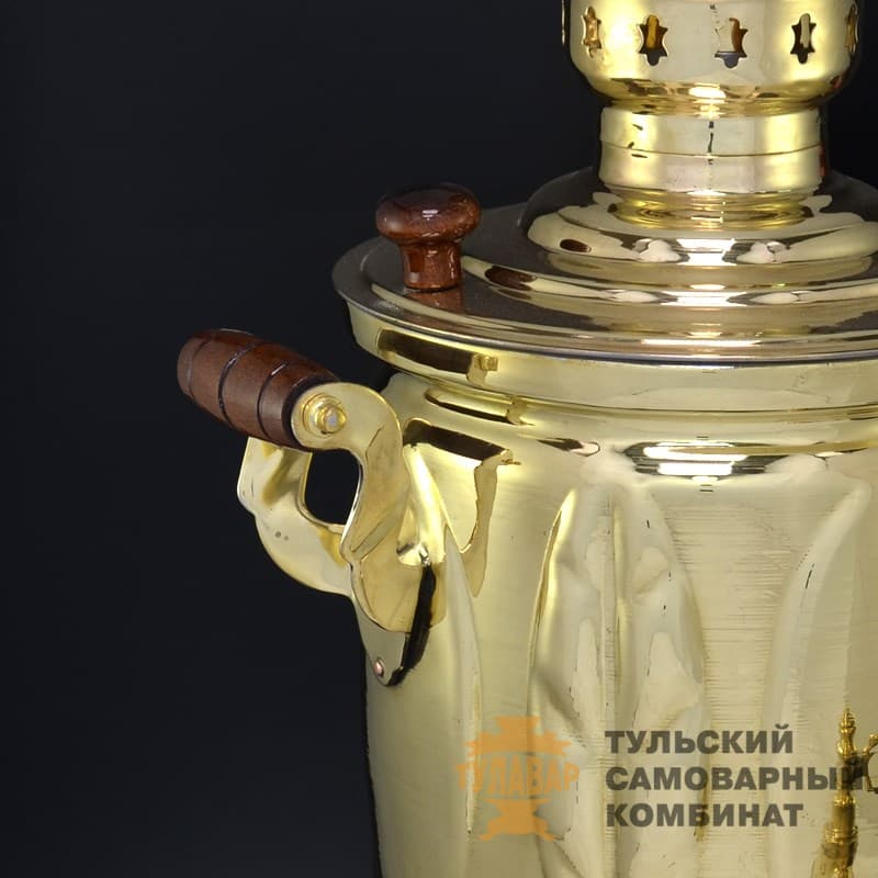 Самовар Дубрава Эксклюзив жаровой 5 литров, банка, латунь, ТСК - фото 9280