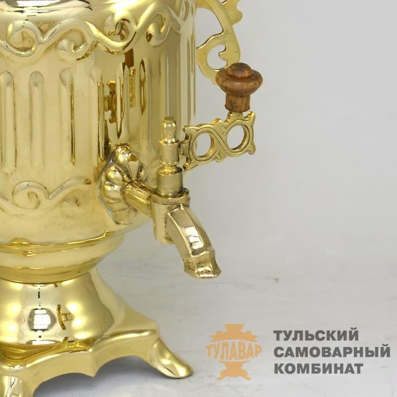 Самовар электрический Банка 3 литра латунь, ТСК - фото 9302
