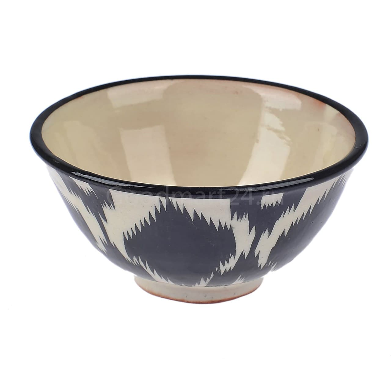 Пиала Риштанская Керамика большая d-11 см. h-5,5 см. Чёрный Атлас - фото 9403