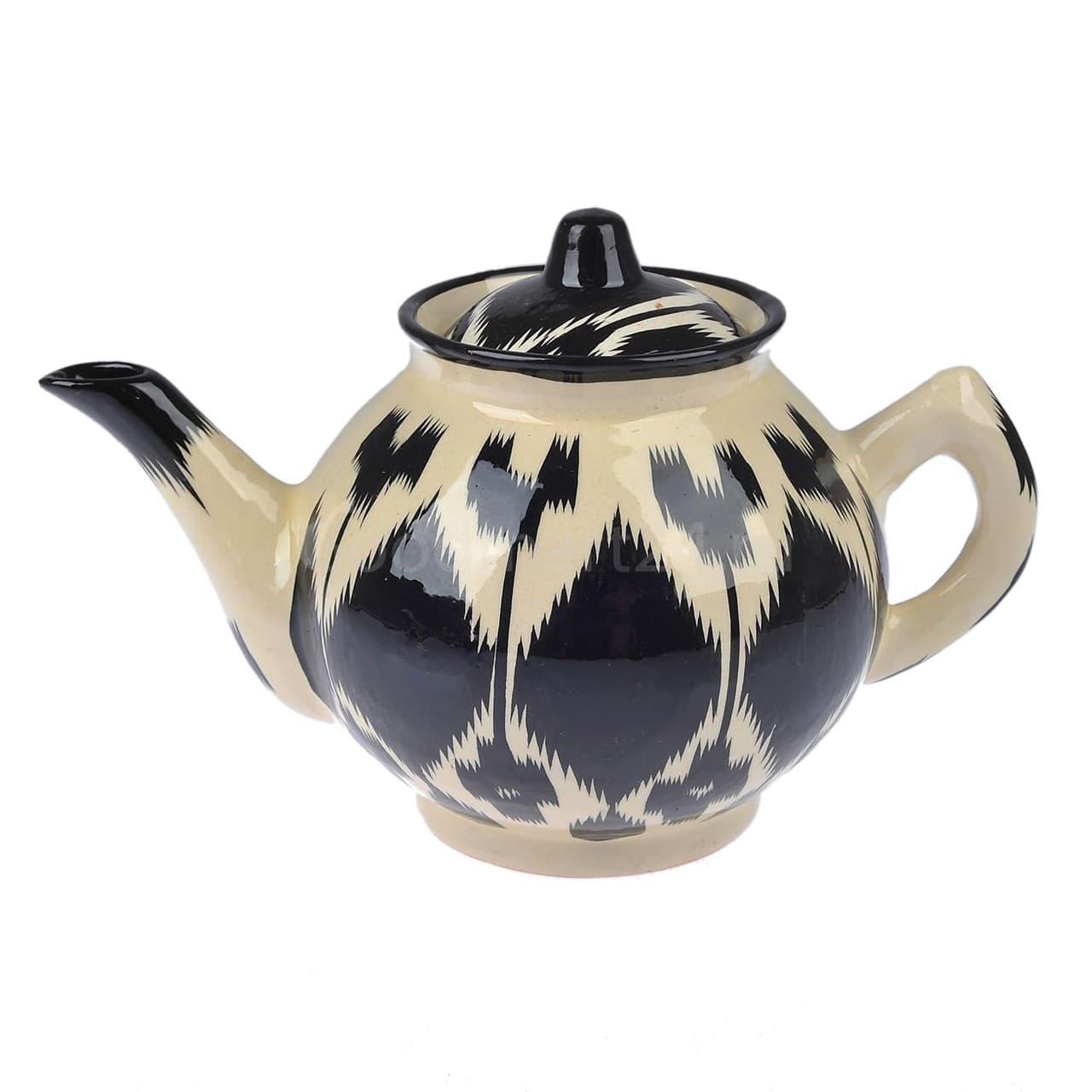 Чайник Риштанская Керамика 1 литр Чёрный Атлас - фото 9408
