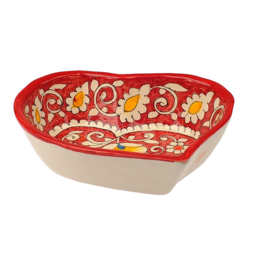Салатница набор из 7 блюд, 40 см. красная - фото 9416