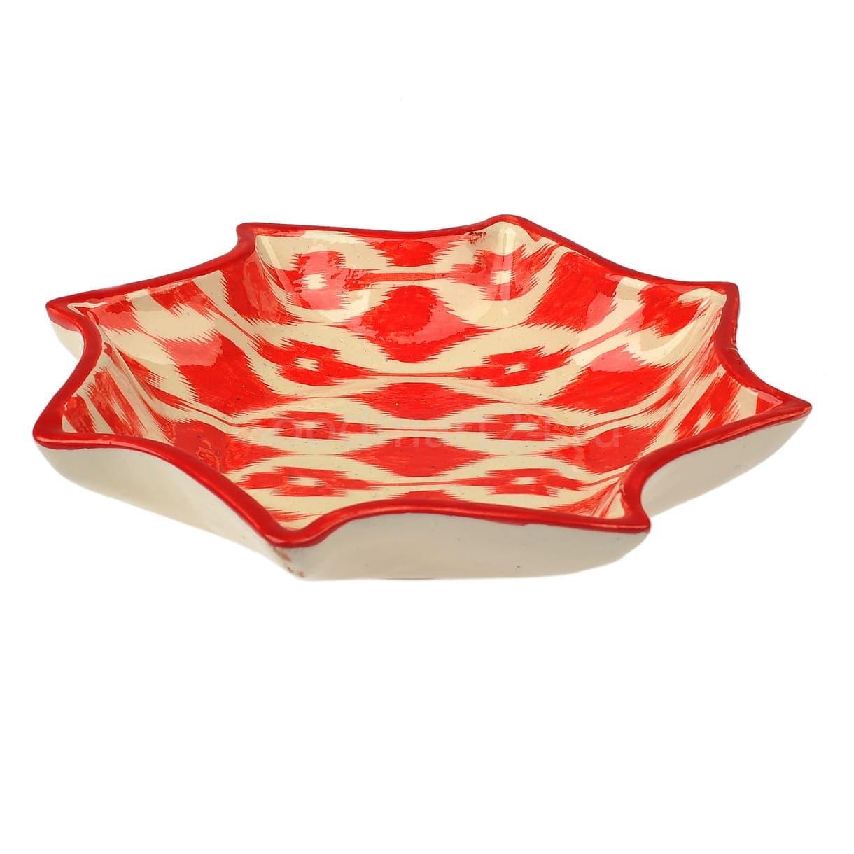 Салатница набор из 9 блюд 42 см. Красный Атлас - фото 9435