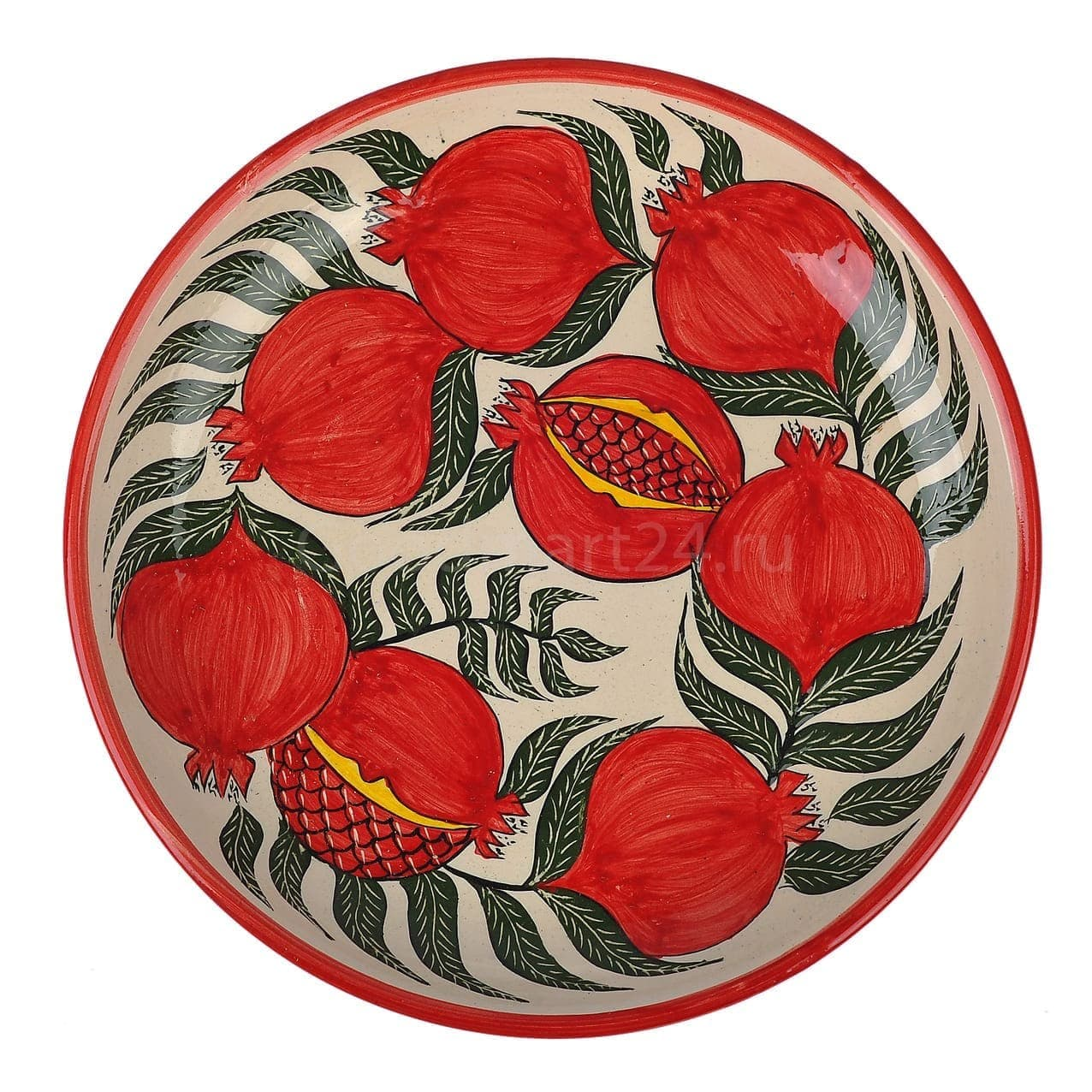 Набор чайный Риштанская Керамика, 9 предметов, Гранат - фото 9482