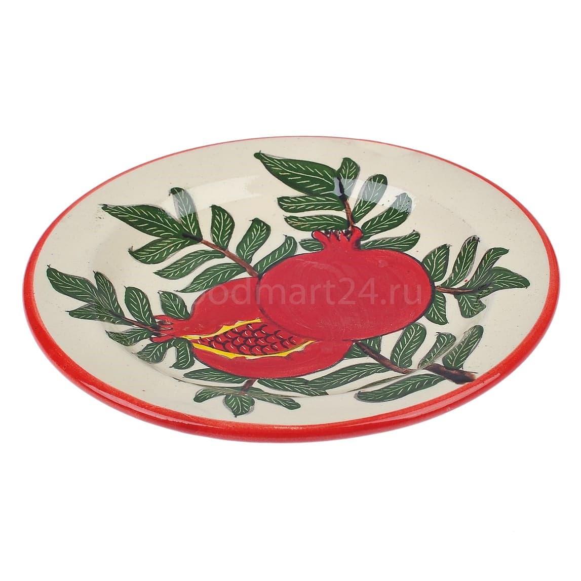 Набор чайный Риштанская Керамика, 9 предметов, Гранат - фото 9489