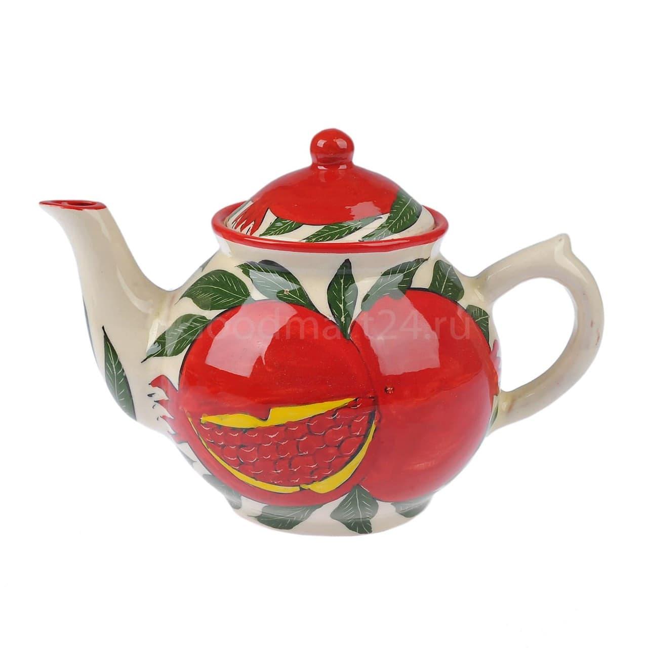 Набор чайный Риштанская Керамика, 9 предметов, Гранат - фото 9490