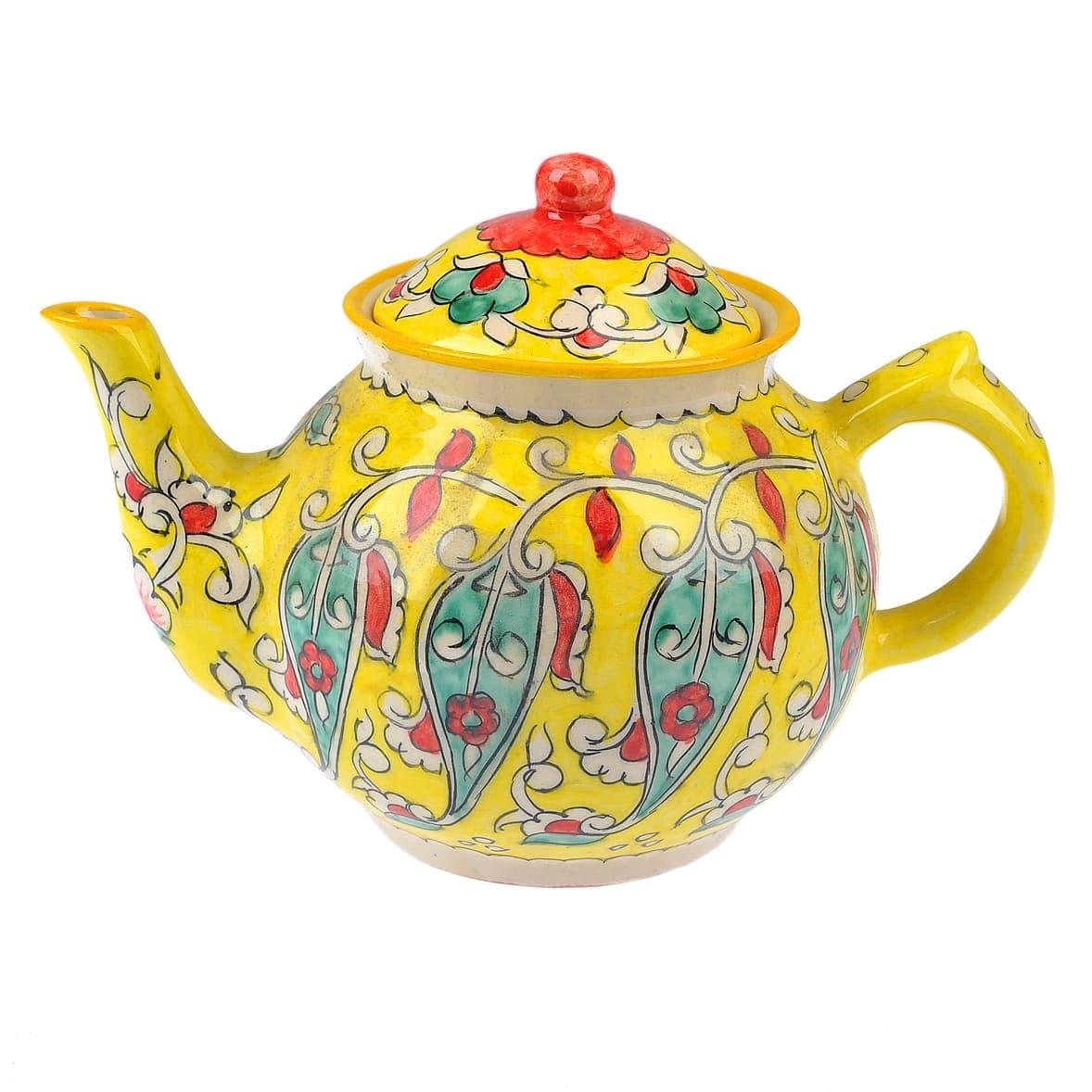 Чайник Риштанская Керамика 1 литр желтый