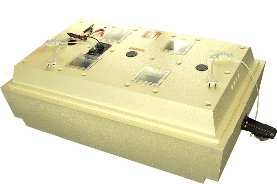 Инкубатор Золушка 98 яиц, автопереворот, 220В, аналоговый терм., гигрометр - фото 9714