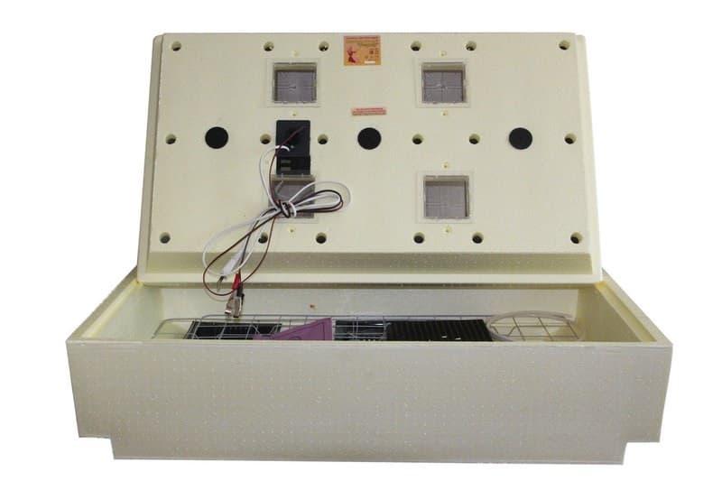 Инкубатор Золушка 98 яиц, автопереворот, 220В, аналоговый терм., гигрометр - фото 9718