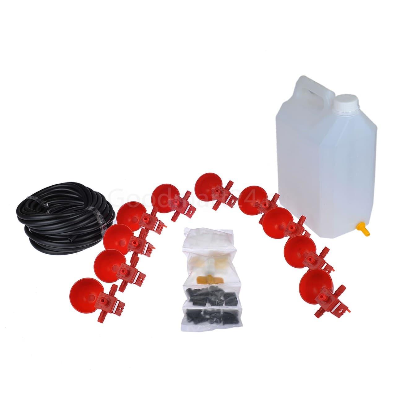 Комплект чашечных поилок «Птицепой» с баком, на 100 голов - фото 9786