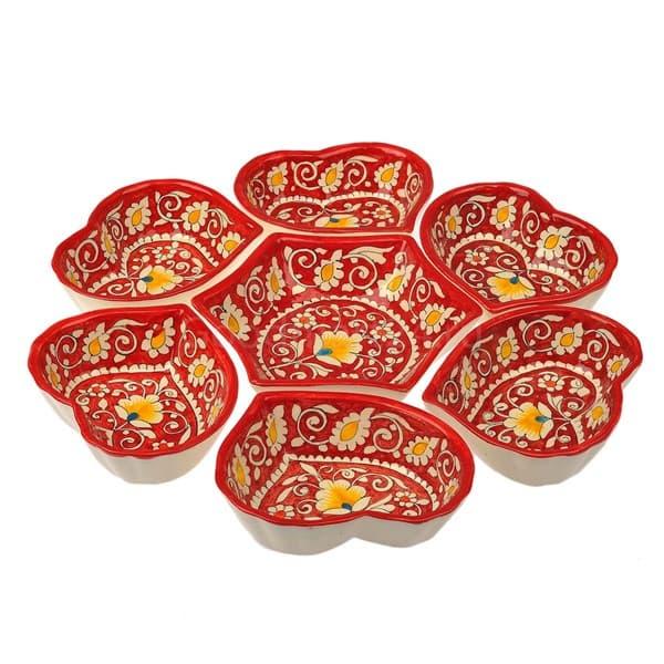 Цена на салатницу набор из 7 блюд, 40 см. красная