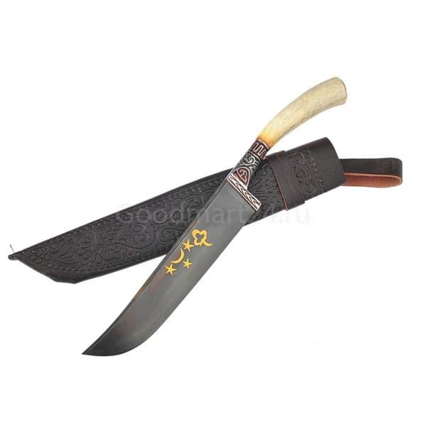 Купить Чирчик Косуля гарда олово гравировка ШХ15, 14-16 см. арт.3