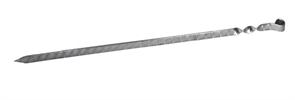 Шампур плоский, кольцо, нержавеющая сталь, узор 450х12х3 мм.