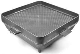 Большая чугунная сковорода-жаровня, печь 500х500х100 мм. Литтех