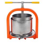 Пресс Лан 15 литров для отжима сока, винтовой с кожухом, нерж.сталь