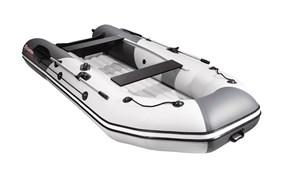 """Моторно-гребная НДНД лодка Таймень NX 3400 """"Комби"""" светло-серого/графитового цвета для активного отдыха фото"""