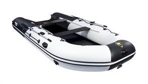 """ПВХ Лодка Ривьера 4300 Килевое надувное дно """"Комби"""" Светло-серый/черный фото"""