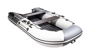 """ПВХ лодка для активного отдыха Ривьера 3200 нднд гидролыжа """"комби"""" светло-серый/графит"""