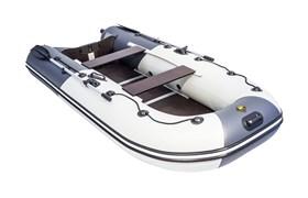 """ПВХ Лодка Ривьера компакт 3200 ск """"комби"""" светло-серый/графит фото"""