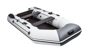 Лодка ПВХ Аква 2900 Слань-книжка киль под мотор светло-серый/графит фото
