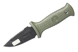 Нож Страж стоунвош черный рукоять эластрон хаки арт.03133 Фото