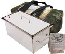 Коптильня для дома 1,5мм. 400х200х200 нерж. сталь с г/з в сумке