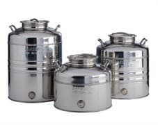 Традиционная бочка с краном на 10 литров из нержавеющей стали Sansone