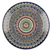 Ляган Риштанская Керамика 32 см. плоский, синий фото