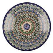 Ляган Риштанская Керамика 34 см. плоский, синий фото