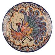 Ляган Риштанская Керамика 38 см. плоский, Жар-Птица