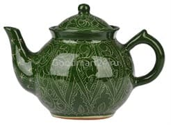 Чайник заварочный Риштанская Керамика 1 л. зеленый
