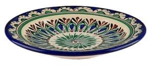 Тарелка плоская Риштанская Керамика 17 см. синяя