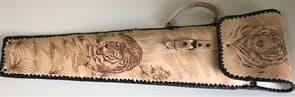 Набор шампуров Колчан Тигр, кожаный чехол, шампуры