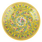 Ляган Риштанская Керамика 42 см. плоский, жёлтый
