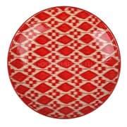 Ляган Риштанская Керамика 38 см. плоский, Красный Атлас