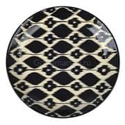 Ляган Риштанская Керамика 42 см. плоский, Чёрный Атлас