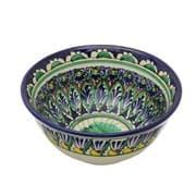 Коса для первых блюд Риштанская Керамика большая d-18 см. синяя