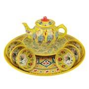 Набор чайный Риштанская Керамика, 9 предметов, желтый