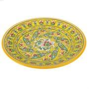 Тарелка плоская Риштанская Керамика 27 см. желтая